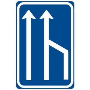 Snížení počtu jízdních pruhů