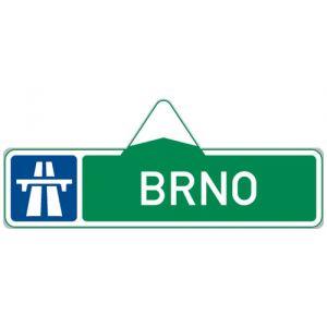 Směrová tabule pro příjezd k dálnici (s jedním cílem)