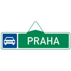Směrová tabule pro příjezd k silnici pro motorová vozidla (s jedním cílem)