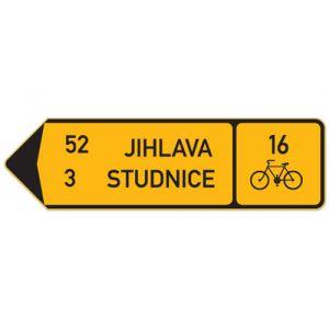 Směrová tabule pro cyklisty (se dvěma cíly)