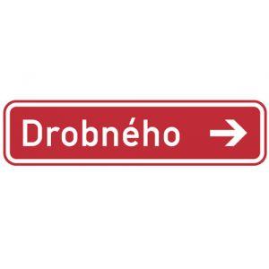 Označení názvu ulice