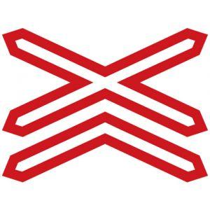Výstražný kříž pro železniční přejezd vícekolejný