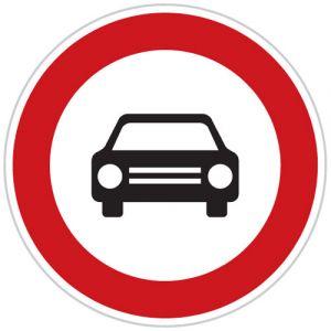 Zákaz vjezdu všech motorových vozidel s vyjimkou motocyklů bez postranního vozíku
