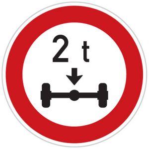 Zákaz vjezdu vozidel, jejichž okamžitá hmotnost připadající na nápravu přesahuje vyznačenou mez